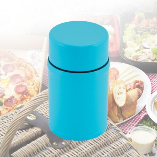 馬卡龍食物罐800ml 顏色隨機(紅、黃、藍)