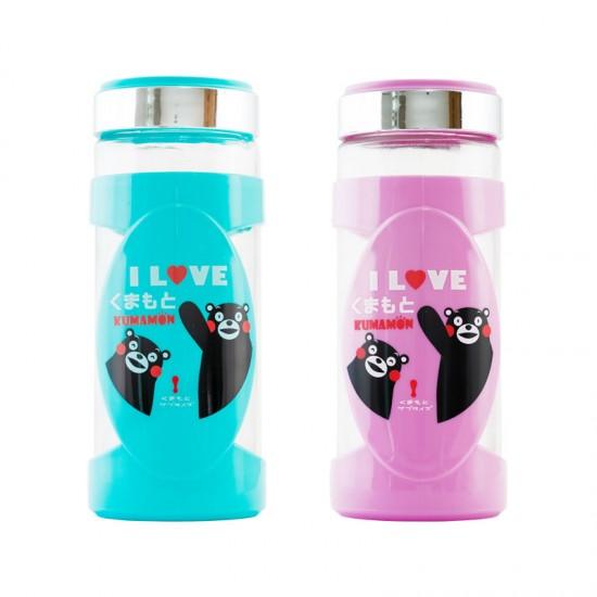 KUMAMON熊本熊隨身杯 400ml(買送一送一) 顏色隨機(粉、藍、黃)
