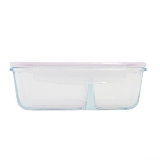 KUMAMON熊本熊 玻璃密扣式保鮮盒 950ml